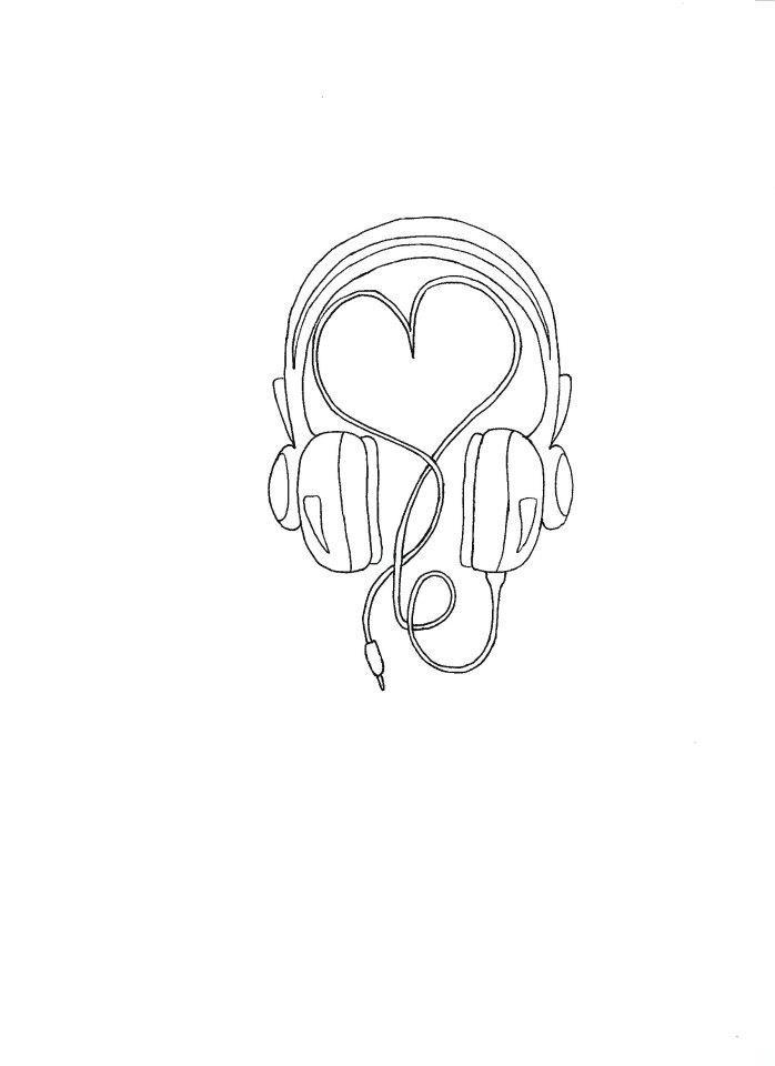 Love music drawing | DRawing | Pinterest
