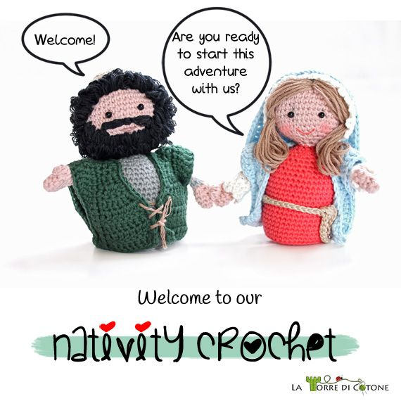 Nativity crochet: free patterns. Designer is releasing one new Nativity character per week. As of now there are patterns for Joseph, Mary, a Wiseman, & the ox w/ more to come.