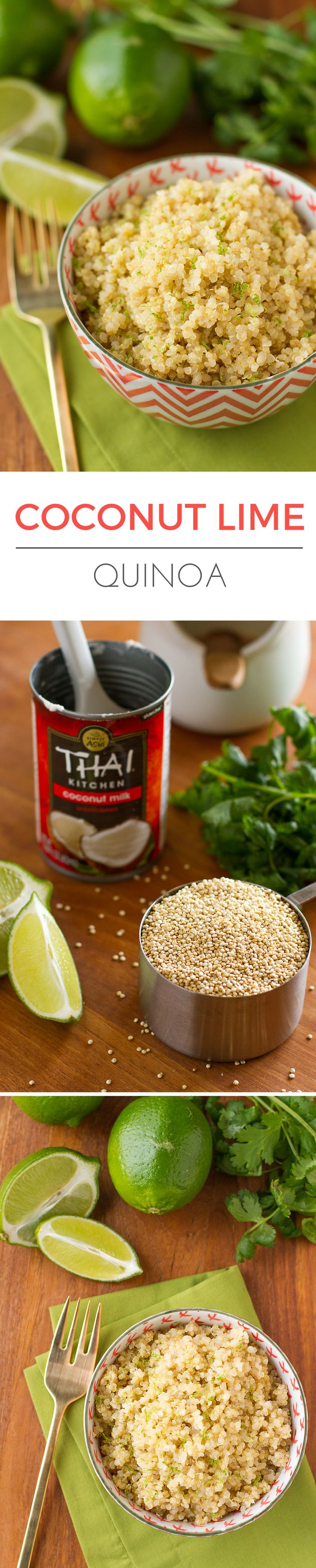 Coconut Lime Quinoa -- 3 ingredients use your rice cooker to make this delicious quinoa recipe