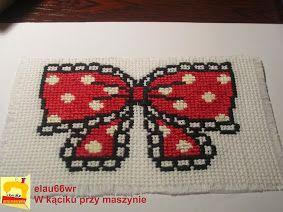 haft krzyżykowy - kokarda na puszkę
