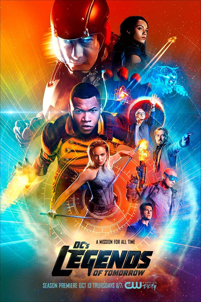 DC's Legends of Tomorrow - TheCW - Season Premiere - ATOM (Brandon Routh), Vixen (Maisie Richardson-Sellers), Jefferson Jackson (Franz Drameh), Martin Stein (Victor Garber), Canary (Caity Lotz), Rip Hunter (Arthur Darvill), Heat Wave (Dominic Purcell) & Citizen Steel (Matthew MacCaull)