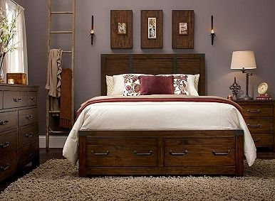 Shelton 4 Pc King Bedroom Set W Storage Bedroom Sets