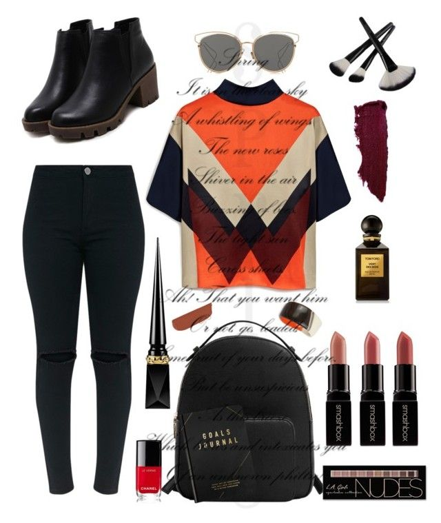 """Standout!"" by dmasterstylist on Polyvore featuring Mulberry, MANGO, Christian Dior, Tom Ford, Charlotte Russe, Smashbox, Christian Louboutin, Rossetto, Chanel and Robert Lee Morris"