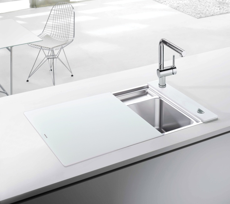 The BLANCO Crystalline amazing vanishing sink 47