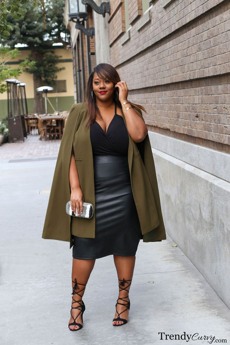 Plus Size Fashion | TrendyCurvy | Cape Coat
