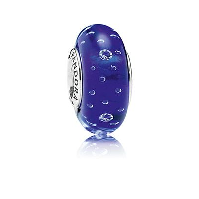 A royal blue color and charming bubble details highlighted by sparkling stones, make this beautiful Murano glass charm a striking and unique addition to any collection. #PANDORA #PANDORAcharm