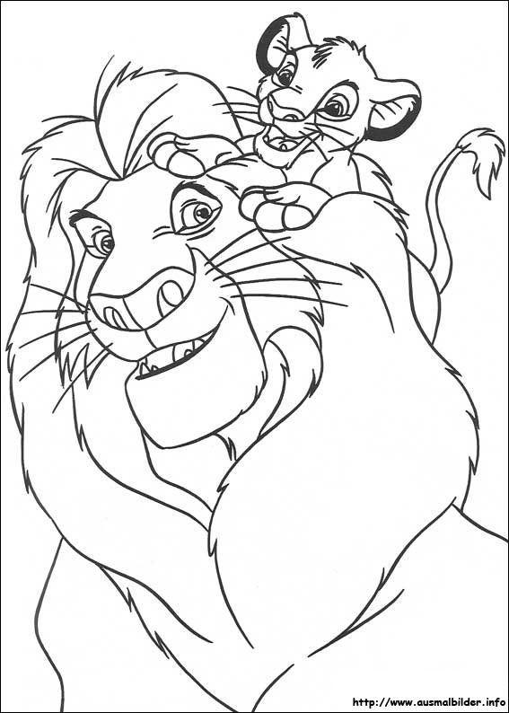 Der König der Löwen malvorlagen   Ausmalbilder   Pinterest
