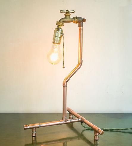 Industrial Copper Table Lamp by Nine   Twenty on Scoutmob Shoppe  modern   lighting  159 best Lamps Lighting Chandeliers images on Pinterest   Lamp  . Luminary Lighting John Kent. Home Design Ideas