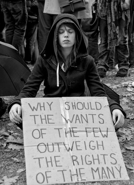 Why should the wants of the few outweigh the rights of the many?
