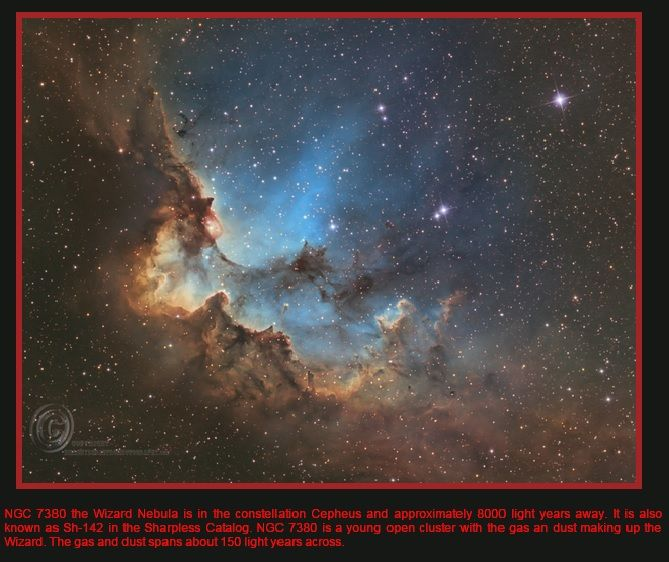 The Wizard Nebula | Astronomy.com Picture of the Day AAAP Member, Bill Snyder 's Wizard Nebula is the February 15, 2017  Astronomy.com Picture of the Day. Wizard Nebula shown below from Bill&…