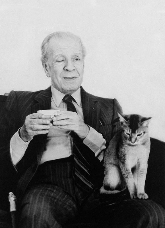 borges   DON'T KNOW IF THAT'S THE MAN'S NAME ..... OR .....  HIS CAT-S ????.........ccp