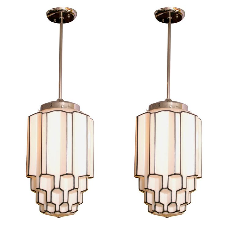 art deco lighting-great detail, but not fussy