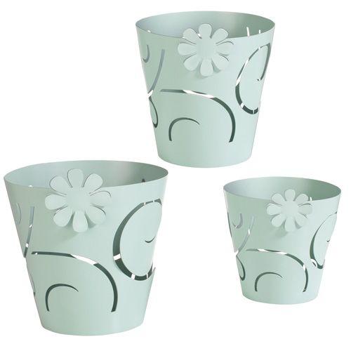 SET COPRIVASI MARGOT5 - set 3 coprivaso-vasetti portacandela in metallo - felix design - set of 3 metal pot covers-candle holders #mascagni #mascagnicasa