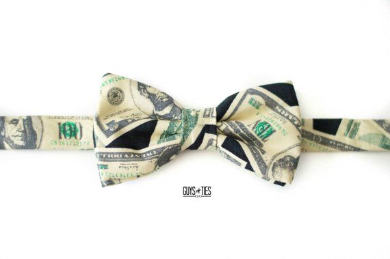 dollar bill money origami bow tie gift for him mens bow tie graduation
