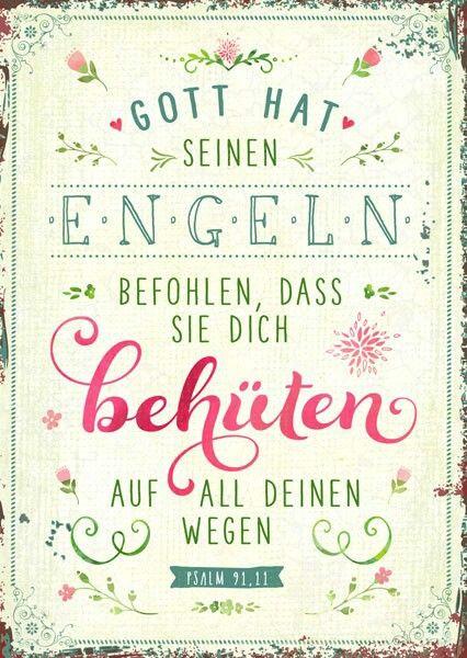 www.segensart.de - Gott hat seinen Engeln befohlen, dass sie dich behüten