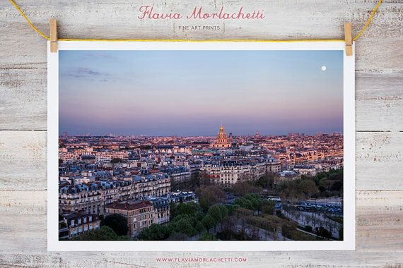 Paris at sunset Paris photography fine art by FlaviaMorlachetti