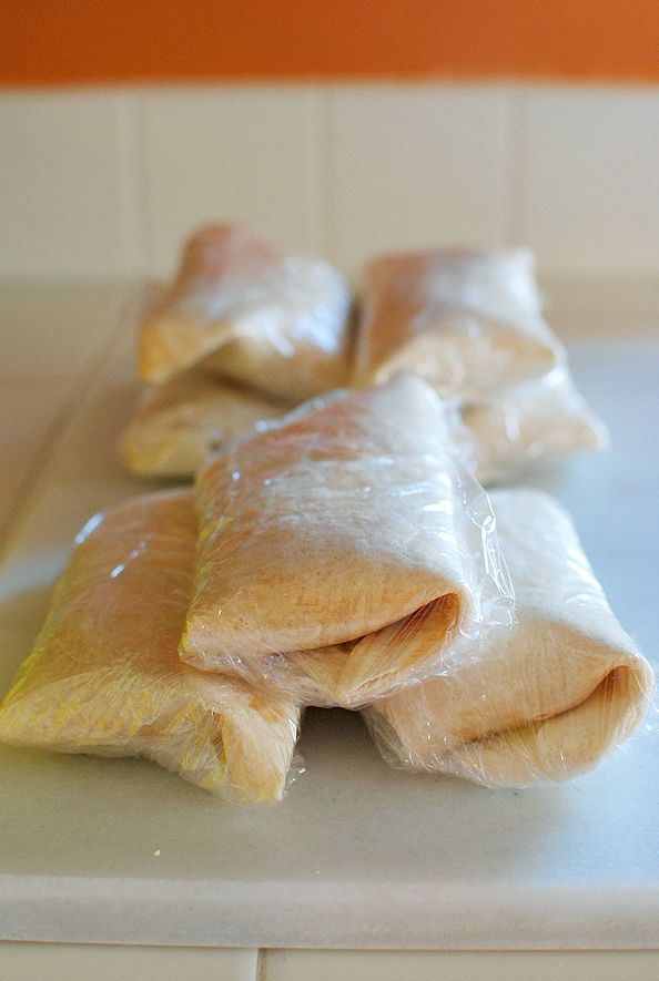 Make ahead breakfast burritos. Great way to use up leftover scrambled eggs. Plus following the recipe is optional, add what you like in it.