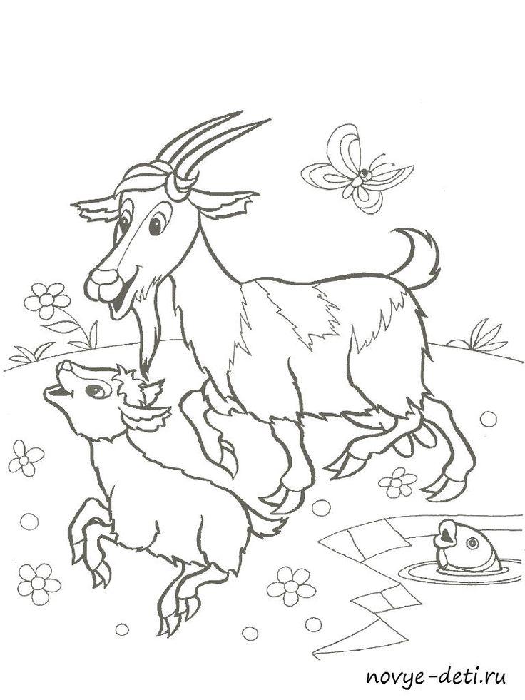 Раскраска для детей с образцами Домашние животные (с ...