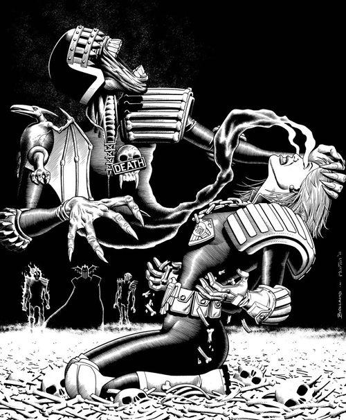 Judge Anderson & Judge Death by Brian Bolland