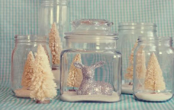 this is really a neat idea to capture a little bit of the winter wonderland in your reception