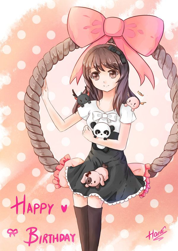 Cute manga girl from the web, hope to draw this for my sisters' birthday. :-)