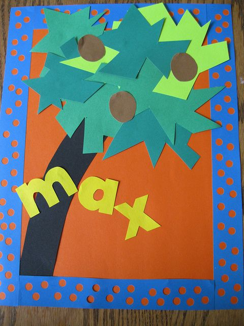 Chicka chicka boom boom tree. we do this after reading the book & use foam letters to spell their names