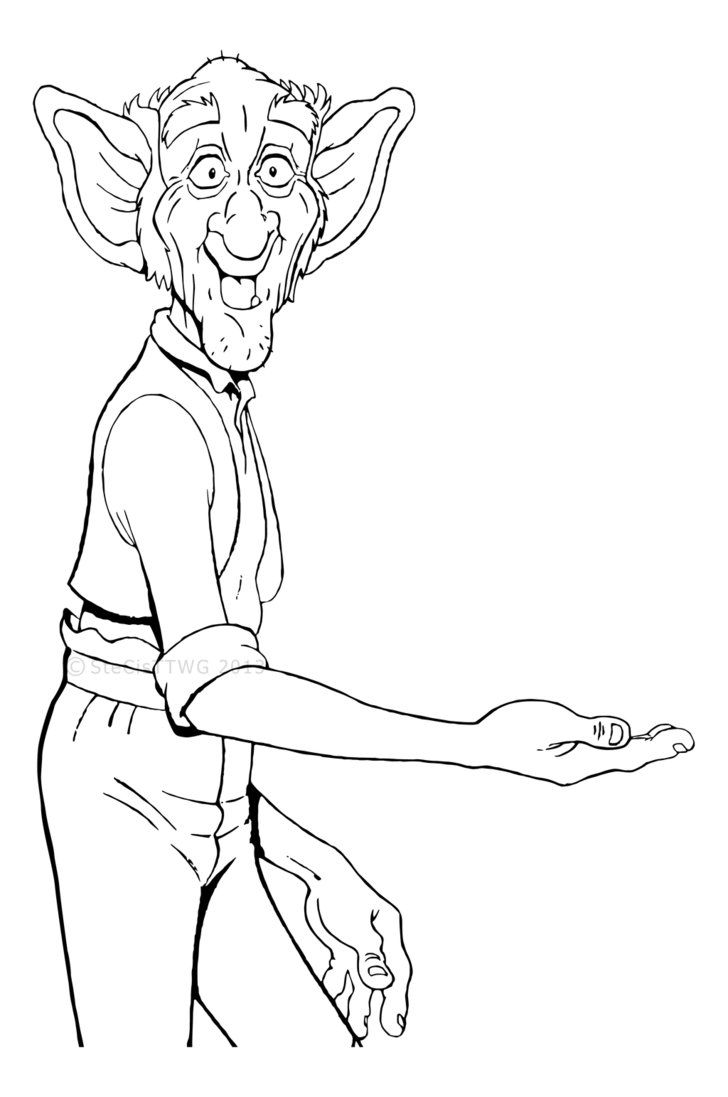 Colouring pages narnia - The Bfg