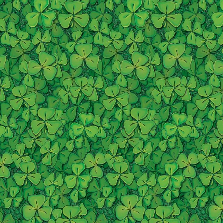"""Pack of 6 St. Patrick's Day Insta-Theme Clover Field Backdrop Party Decorations 4"""" x 30"""", Green"""