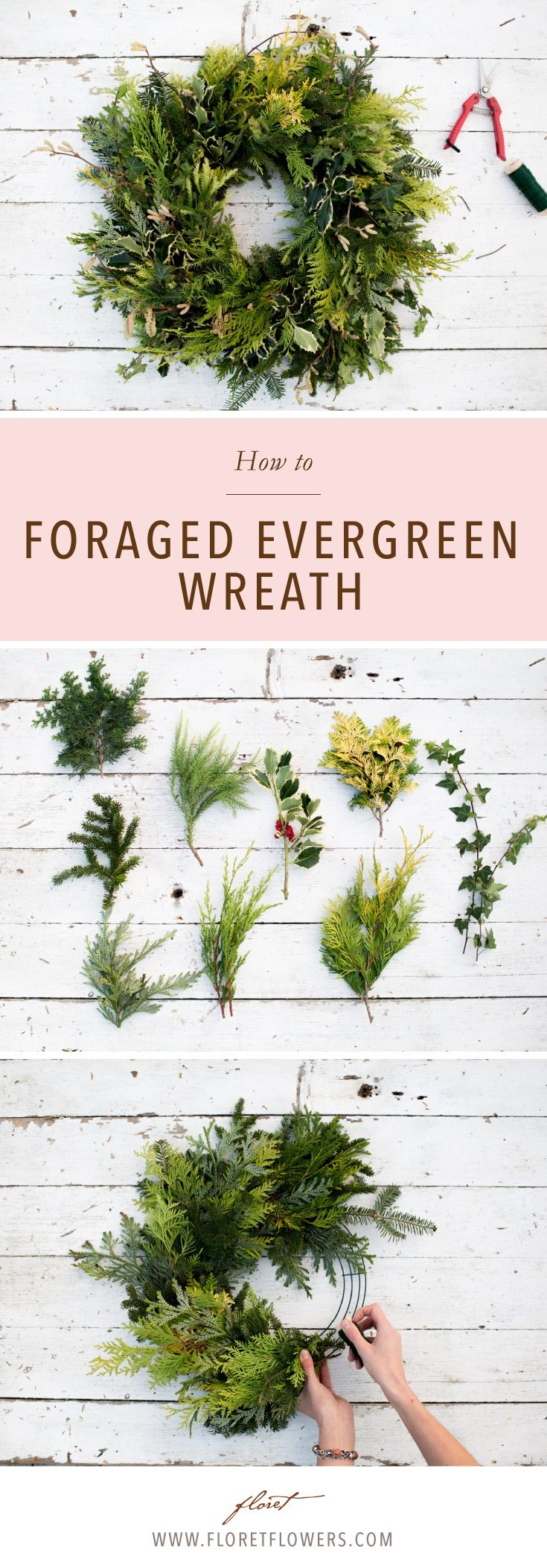 One of the most rewarding things to do during the early days of winter is to collect evergreen branches and make beautiful wreaths. These festive creations are inexpensive, easy to assemble, and make the perfect holiday hostess gifts or winter decoration.