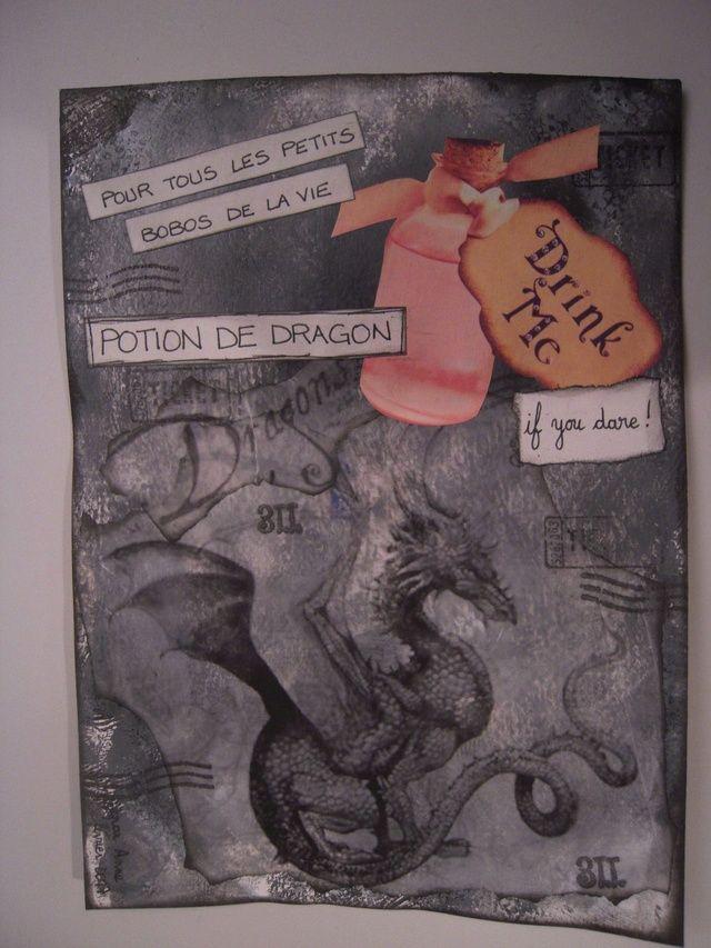 """Une page voyageuse pour le carnet """"Potions"""""""