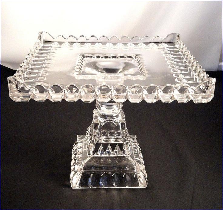 1890's Crystal Wedding Cake Stand