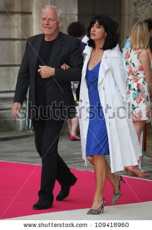 Dave Gilmour and Polly Sampson arriving for the Royal Academy of Arts ...