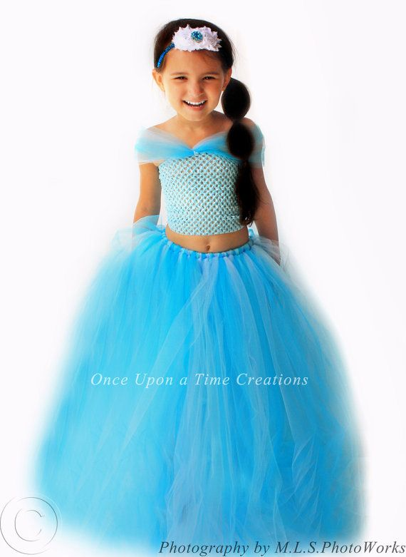 jasmine inspired princess tutu dress birthday outfit halloween costume 12m 2t 3t 4t - 4t Halloween Costumes Girls
