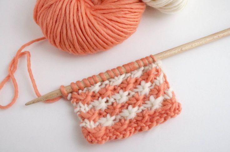 Comment tricoter le point marguerite bicolor | The Blog - FR