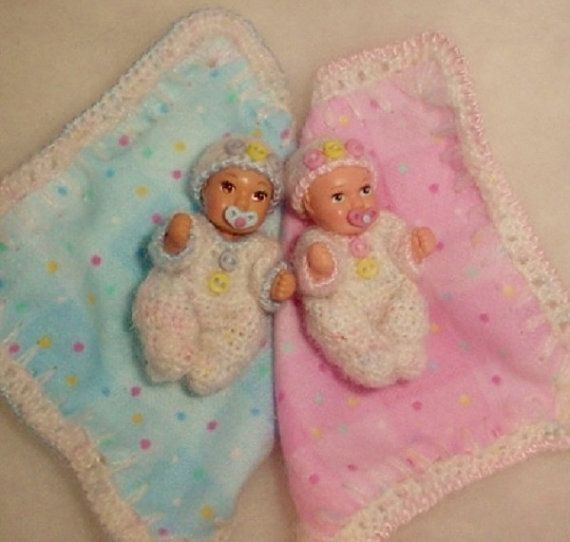 Handmade crochet twins set for 13 4 by coffeyhousecreations 50 00