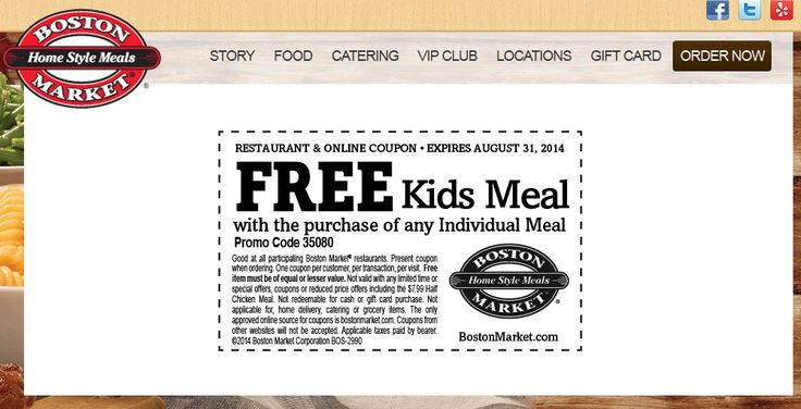 Pinned August 27th Family meals are 50 off #Labor Day at Boston - coupon disclaimer examples