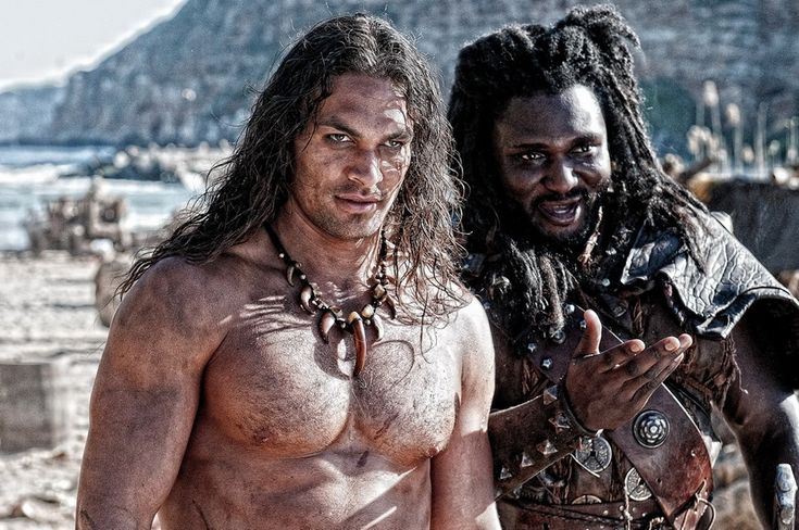 Two new pics of Jason Momoa as the legendary Conan the Barbarian in Marcus Nispel's Conan have surfaced online.