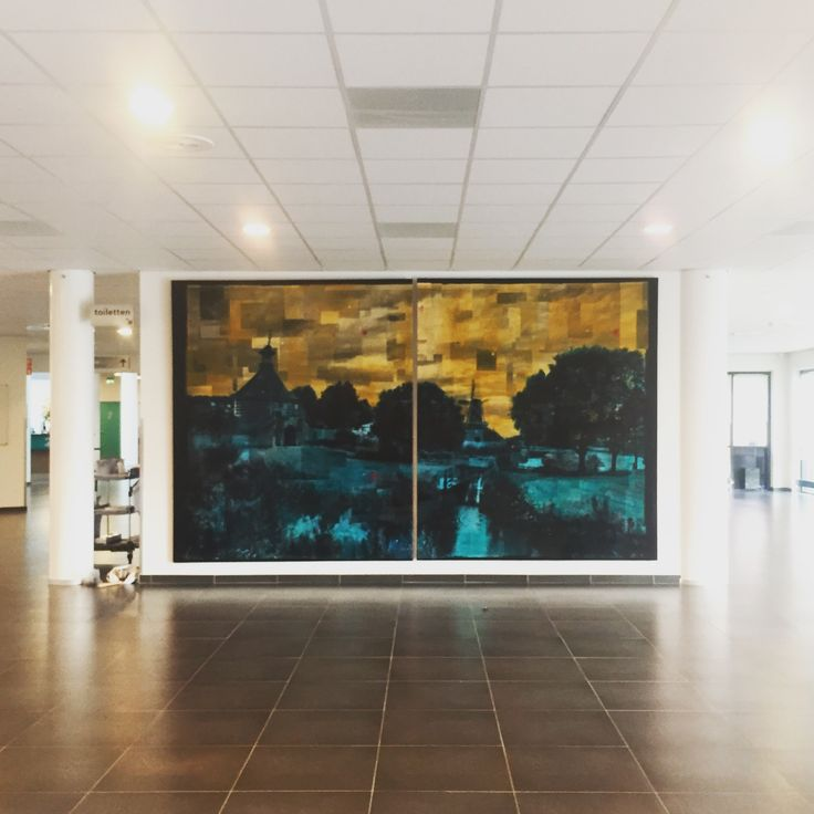 New, big wall filling photo artwork at Gorinchem's city hall.