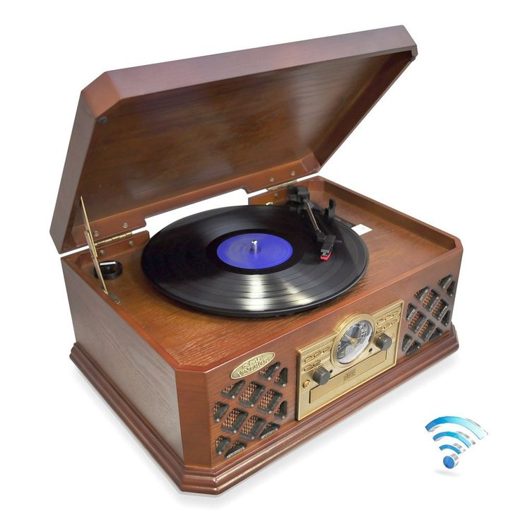 Pyle Bluetooth Classic Style Record Player Turntable With