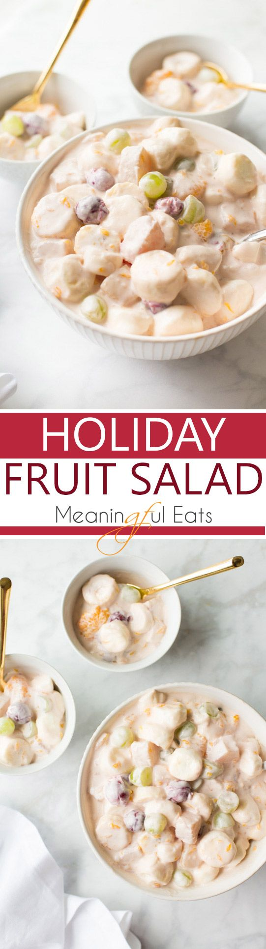 Thanksgiving. Christmas. Easter. Summer BBQs. This Holiday Fruit Salad is the perfect special occasion side for them all! Creamy, fluffy and crowd-pleasing!  This post was created in partnership with Dole Packaged Foods.   To me Thanksgiving is all about the sides and the side line-up wouldn't be complete without a creamy, fruit salad. This Holiday …