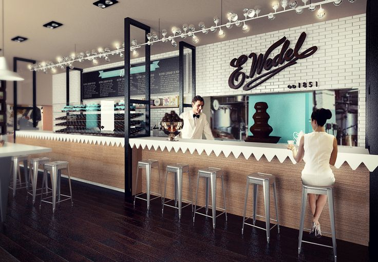 Wedel cafe in Warsaw, competition project.