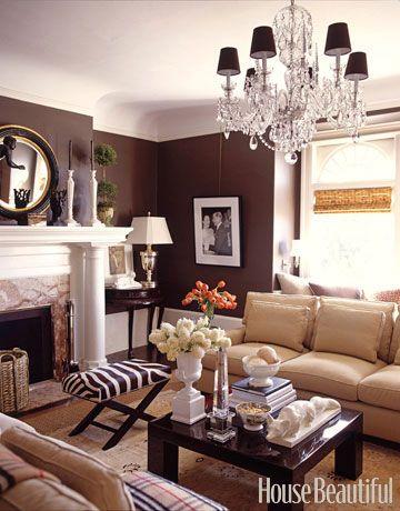 Glamorous living room. Design: David DeMattei and Patrick Wade. #glamorous #living_room