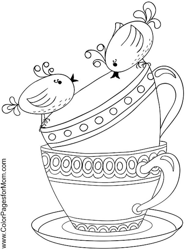 80 best images about Tea Coloring Art Print Pages