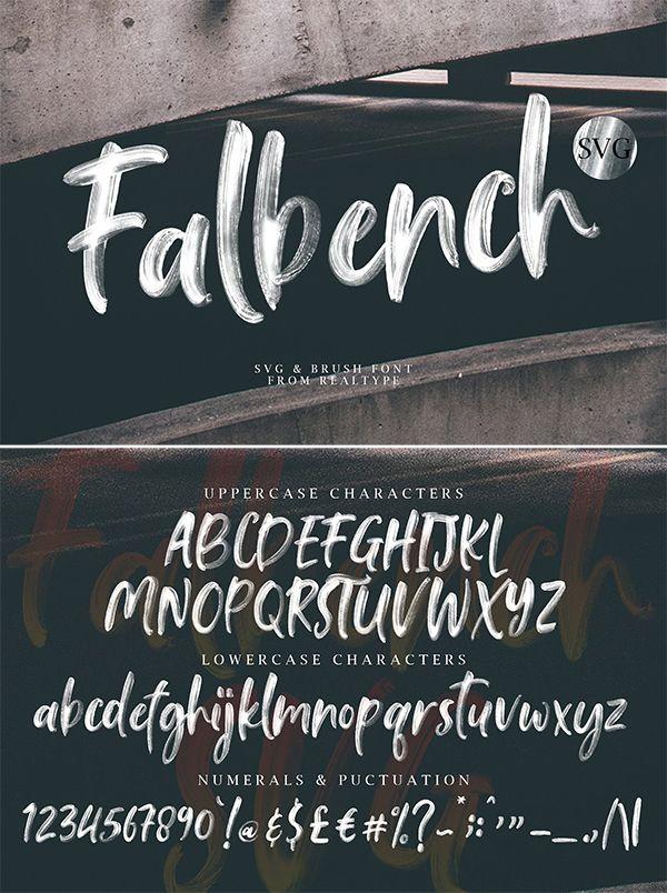 Falbench Svg Brush Font Brush Font Lettering Top Fonts