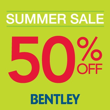 Bentley Summer Sale! Searching for the perfect summer accessory? Take advantage of Bentley's summer sale with 50% off a wide selection of styles! Choose from every colour under the sun to complete your every warm weather look.