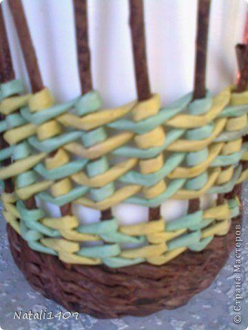 Мастер-класс Поделка изделие Плетение Столбики с накидом Бумага газетная Салфетки Трубочки бумажные фото 17