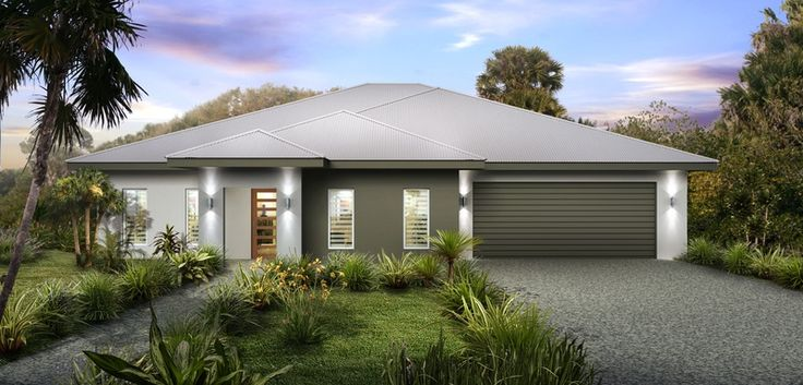 3D Artist Impression for a building company - Darwin NT Roof Colorbond Surfmist - Fascia Colorbond Woodland Grey - Garage Door Colorbond Woodland Grey - Render Colours Colorbond Woodland Grey, ...