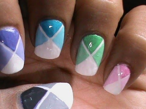 17 Best Ideas About Color Block Nails On Pinterest Dot Nail Designs Geometric Nail Art And