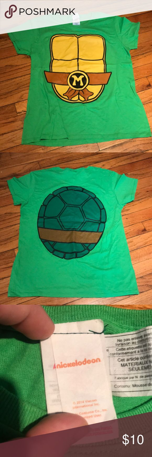 Women's Cosplay Costume Ninja Turtle T-Shirt Bought for Halloween a few years back, never worn. Cute Ninja Turtle T-Shirt. Perfect for cosplay or a costume party. Size Large. Nickelodeon Tops Tees - Short Sleeve