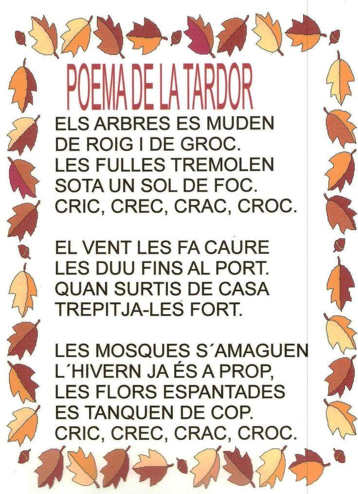 Poema LA TARDOR